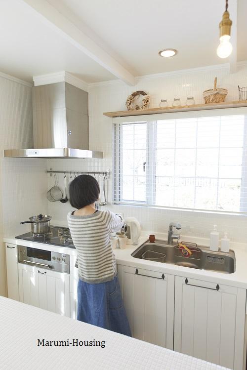 キッチンの配置2。